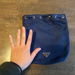 Prada Bags - NWT Prada Nylon Bucket Bag in Navy Blue